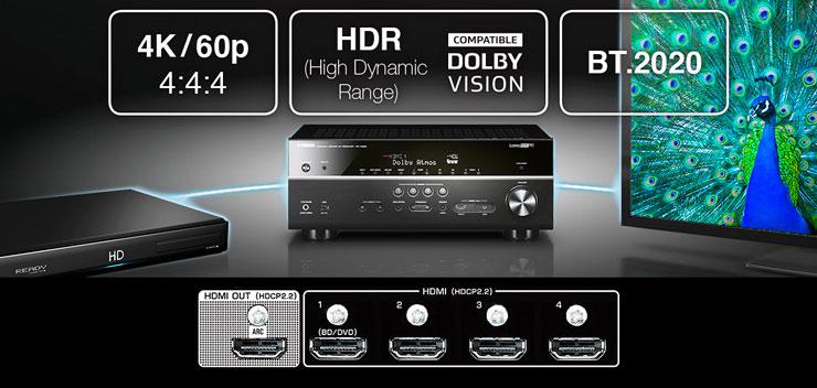 雅马哈5.1声道无线次世代家庭影院功放RX-V383京东新品上市优惠买赠活动